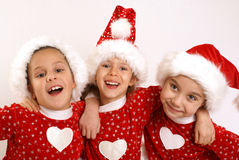 Happy Christmas girls Royalty Free Stock Images