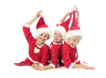 Happy Christmas girls Royalty Free Stock Photo