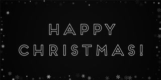 Happy Christmas greeting card. Stock Photography