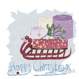 Happy Christmas greeting card Stock Photography