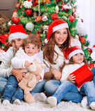 Happy Christmas holiday Stock Photos