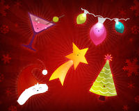 Happy Christmas holiday elements Stock Image