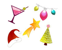 Happy Christmas holiday elements Stock Photography