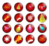 Happy Christmas holiday pins Royalty Free Stock Image