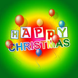 Happy Christmas Indicates Xmas Greeting And Celebrate Royalty Free Stock Image