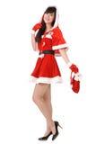 Happy Christmas lady Royalty Free Stock Photos
