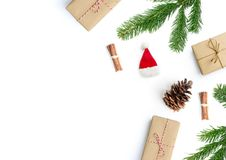 Happy Christmas Layout Composition Royalty Free Stock Images