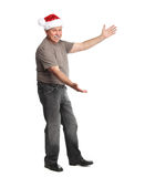 Happy Christmas man. Stock Image
