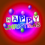 Happy Christmas Means Xmas Greeting And Celebrate Royalty Free Stock Photography