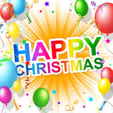 Happy Christmas Means Xmas Greeting And Cheerful Stock Images