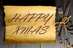 Happy christmas menu Stock Photography