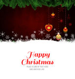 Happy Christmas message Royalty Free Stock Photography