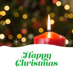 Happy Christmas message Royalty Free Stock Photo