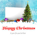 Happy Christmas message Royalty Free Stock Images