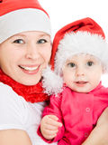 Happy Christmas mother and daughter Royalty Free Stock Image