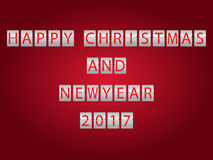 Happy Christmas and New Year 2017 royalty free stock image