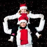 Happy Christmas night Stock Image