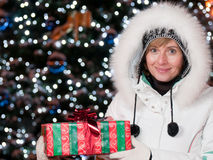 Happy Christmas night Stock Photography