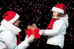Happy Christmas night Stock Photos