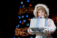Happy Christmas night Royalty Free Stock Image