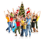 Happy Christmas People stock images