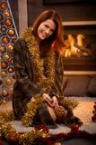 Happy christmas portrait Royalty Free Stock Photography