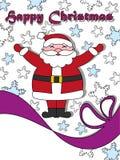 Happy Christmas postcard with Santa Royalty Free Stock Photos