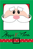 Happy Christmas postcard with Santa Stock Photography