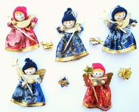 Happy christmas puppets Royalty Free Stock Images