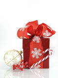 Happy Christmas red gift Stock Photo