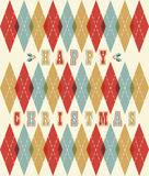 Happy christmas retro geometric pattern Royalty Free Stock Photos