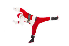 Happy Christmas Santa Claus dancing Stock Photography