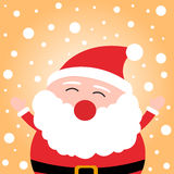 Happy christmas Santa Claus on snow background Stock Images