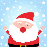 Happy christmas Santa Claus on snowy background Royalty Free Stock Images