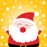 Happy christmas Santa Claus on snowy background Royalty Free Stock Photos