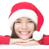 Happy christmas santa woman Royalty Free Stock Photography