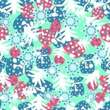 Happy christmas seamless color pattern Royalty Free Stock Image