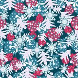 Happy christmas seamless color pattern Stock Image
