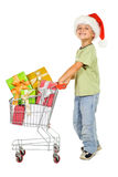 Happy christmas shopping Royalty Free Stock Photography