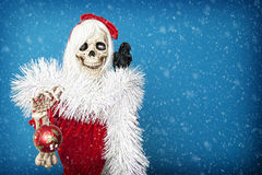 Happy Christmas Skeleton Royalty Free Stock Images