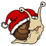 Happy Christmas Snail Royalty Free Stock Photos