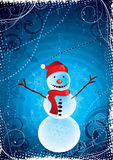 Happy Christmas snowman Royalty Free Stock Photo