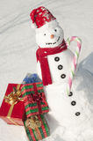 Happy Christmas Snowman Stock Image