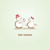 Happy Christmas snowman Royalty Free Stock Photos