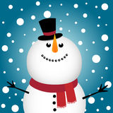 Happy Christmas snowman Royalty Free Stock Image