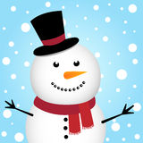 Happy Christmas snowman Stock Photo