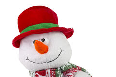 Happy Christmas snowman , isolated on white background Royalty Free Stock Photo