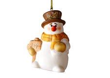 Happy Christmas snowman,on white background. Stock Photo