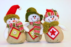 Happy christmas snowmen Stock Photography