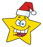 Happy christmas star smiling Stock Image